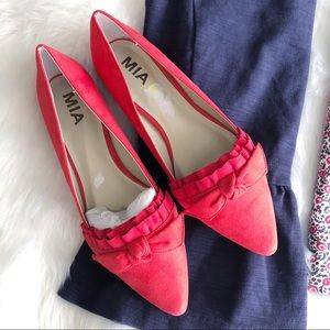 MIA • Red Pointed Toe Flats